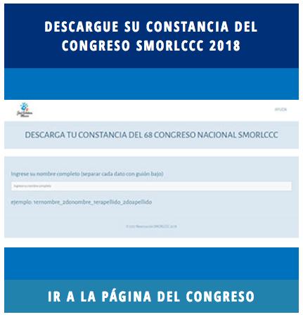 Descargar Constancia del 68 Congreso de la SMORLCCC