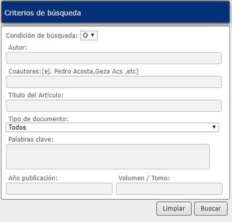 Criterios de búsqueda Anales de la Otorrinolaringología Mexicana