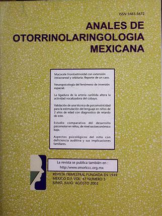 Anales Otorrinolaringología Mexicana